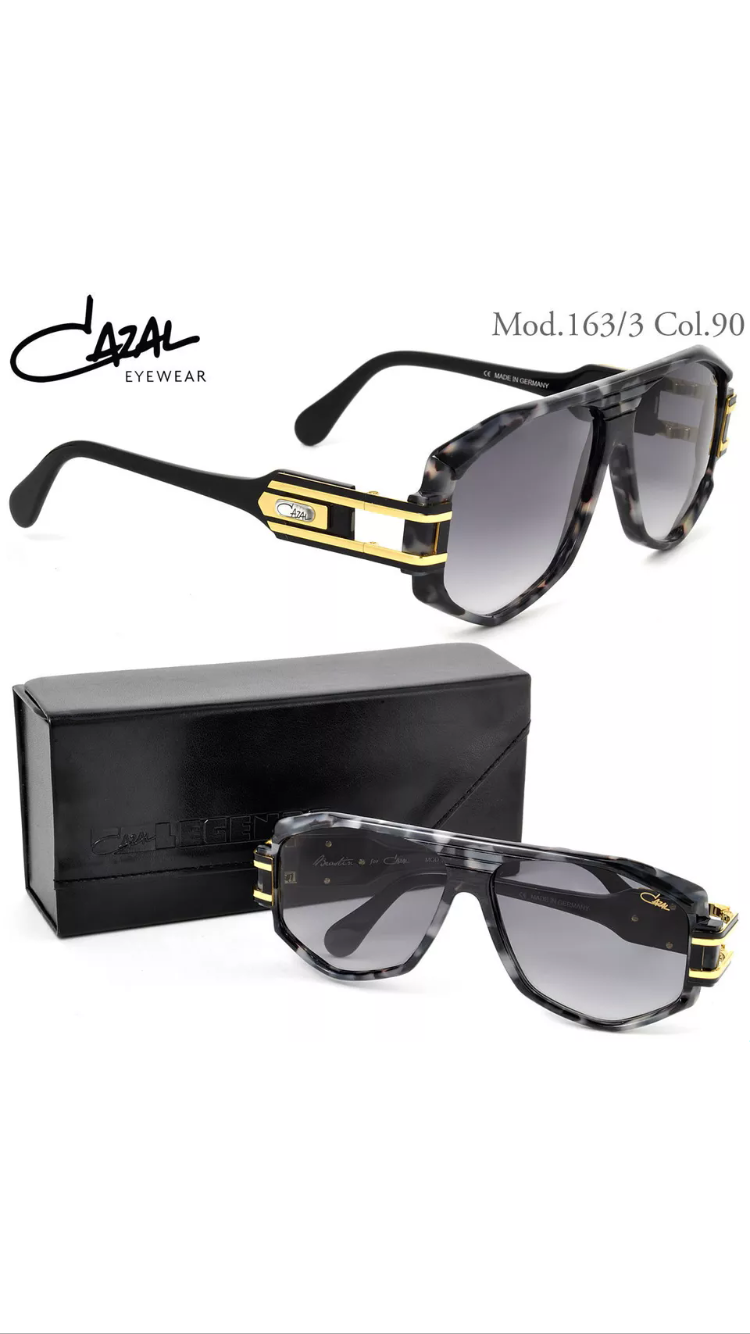 bf4abad4edf1 Home Glasses CAZAL 163 SUNGLASSES VINTAGE LEGEND BLACK GOLD LUXURY NEW.   